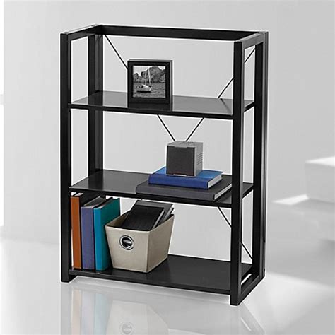 bed bath and beyond bookcase wooden folding and stacking bookcase bed bath beyond