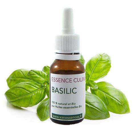 huile essentielle cuisine basilic huile essentielle bio alimentaire pour la cuisine