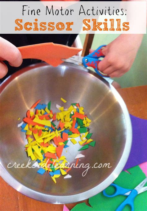 motor activities scissor skills creekside learning 869 | Scissor Skills