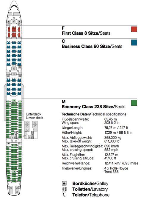 A340 600 Lufthansa Sitzplan Sitzplan auf Deutsch