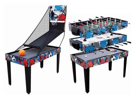 foosball air hockey combo table 4 in 1 recreational table pool foosball air hockey