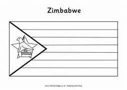 zimbabwe flag colouring page