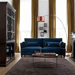Canapé Velours Bleu Canard : canap s bleu vert et vert bleu mobilier canape deco ~ Teatrodelosmanantiales.com Idées de Décoration