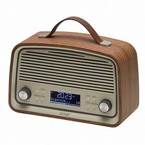 Radio Reveil Vintage : denver electronics radio r veil bluetooth num rique dab denver dab 38 dab 38darkwood ~ Teatrodelosmanantiales.com Idées de Décoration