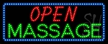 Massage Open Animated Led Signs Neon