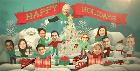 holiday faces pop  card  fluxvfx videohive