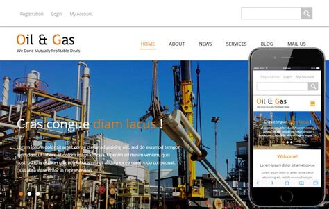 oil  gas  industrial category flat bootstrap