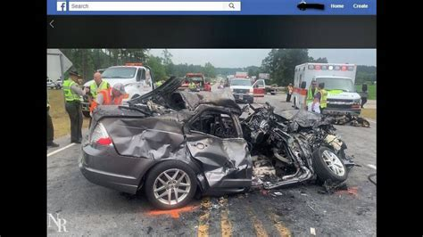 killed  highway car crash  baby rescued nc cops