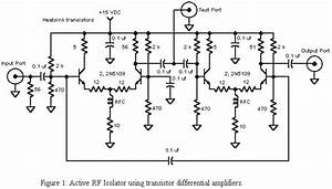 Rf Isolator Uses Differential Amplifiers
