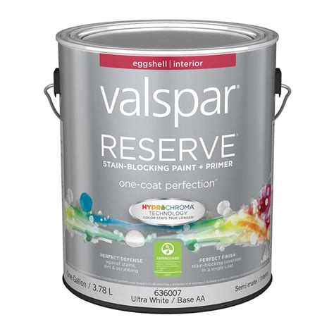 paint eggshell shop valspar reserve eggshell latex interior paint and primer in one actual net contents 128
