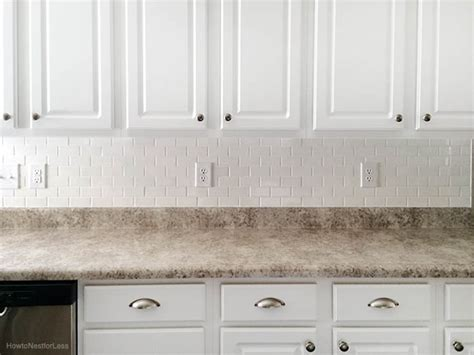 white tile kitchen backsplash how to install a kitchen backsplash the best and easiest