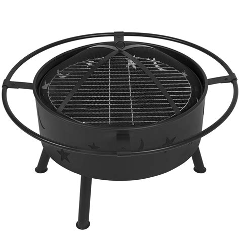 pit with grill best choice products 30 quot pit bbq grill firebowl patio