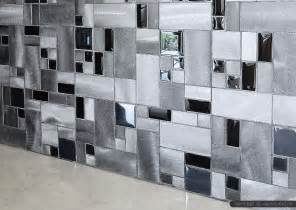 modern black glass metal backsplash tile backsplash