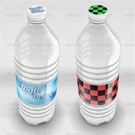 water bottle label templates  psd