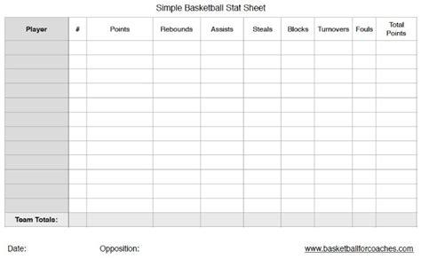 basketball stat sheets     print