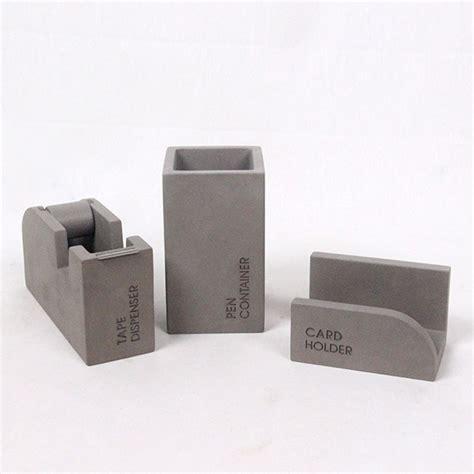 western office desk accessories cement automatic stationery tape dispenser cute concrete