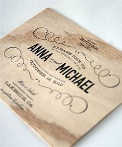 vintage type wooden wedding invitations by cheerupcherup With wedding invitations made of wood