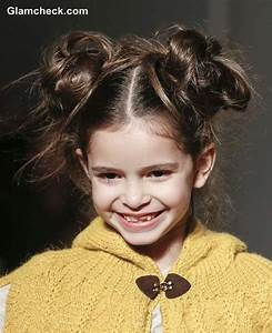 Messy Double Bun Hairstyle Little Girls Kids Hairstyles