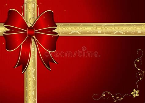 elegant red card background  ribbon stock vector
