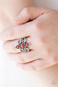Paparazzi, U0026quot, Outback, Oasis, U0026quot, Red, Stone, Silver, Frilly, Band