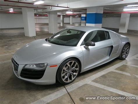 audi r8 spotted in bethesda maryland 02 23 2014