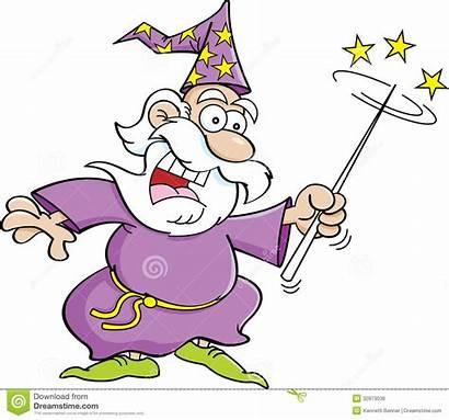 Wizard Cartoon Desenhos Feiticeiro Magic Wand Animados