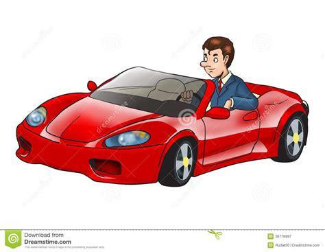 driving sports car businessman driving sport car stock illustration image