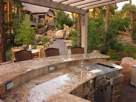 outdoor kitchen island grills pictures ideas  hgtv