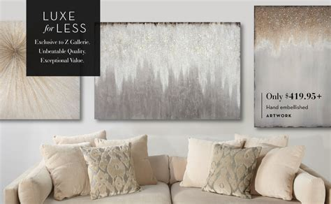 Z Wall Decorations by Artwork For Home Affordable Wall Z Gallerie