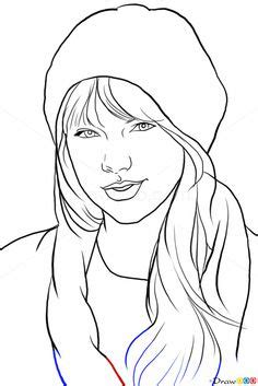 draw taylor swift easy step  art pinterest