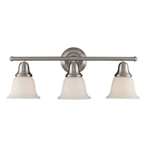 titan lighting berwick 3 light brushed nickel wall mount