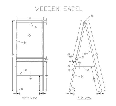 woodworking plans easel woodworker magazine