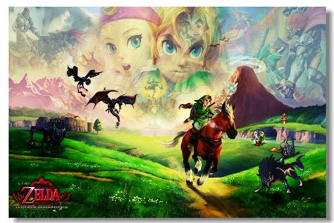 Unique ocarina of time posters designed and sold by artists. Wall Sticker game poster The Legend of Zelda Link game poster Prints Ocarina Time Wind Waker Sky ...