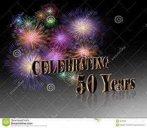 50th Anniversary Celebration Stock Illustration ...