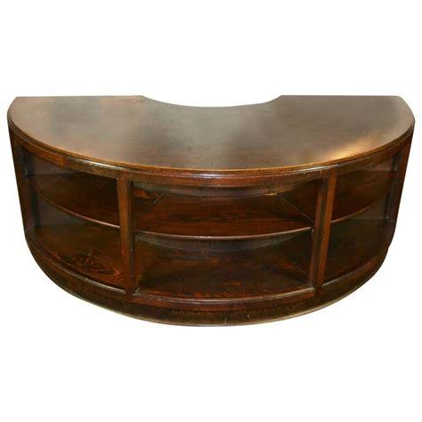 antique l tables sale antique half round wooden executive desk for sale at 1stdibs