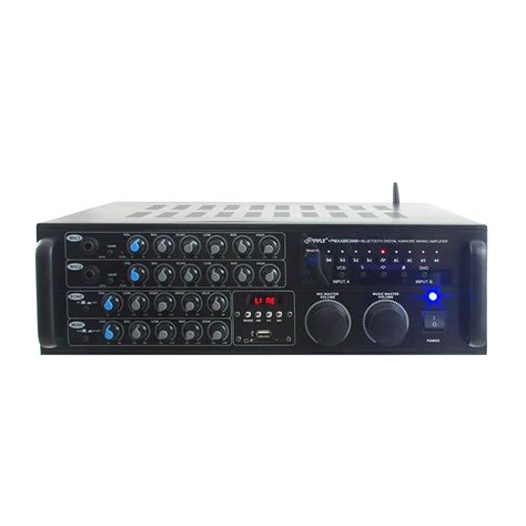 Watt Stereo Mixer Karaoke Amplifier Microphone
