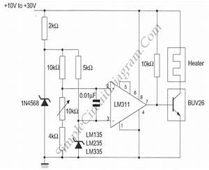 Simple Temperature Controller  Lm135  Circuit Diagram World