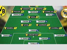 El Dortmund 'adelanta' su once en Twitter y el del Real