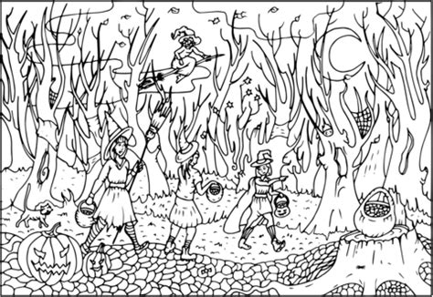 woods coloring pages pictures  pin  pinterest