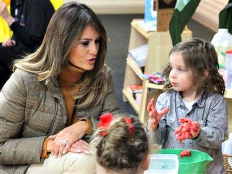 melania visits children at alaskan 988   Melania Trump Alaska Preschool AP PhotoMark Thiessen 640x480