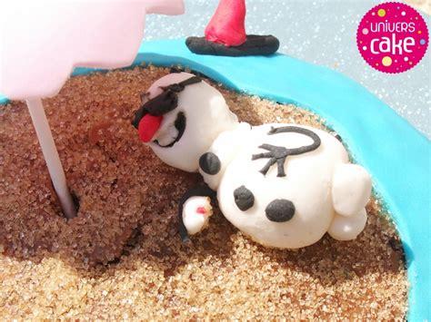 olaf en pate a sucre gateau olaf 224 la plage facile univers cake