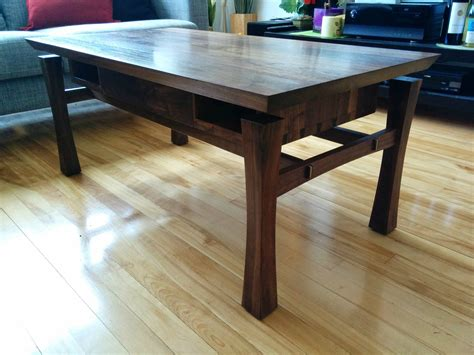 black walnut floating top coffee table woodworking