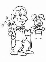 Magician Coloring Cirque Goochelaar Designlooter Kan Toveren Anton Bricolage Carnaval 58kb 800px Het Sylvester Le sketch template