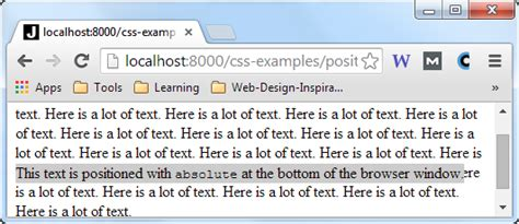 Html Div Position Absolute by Css Position