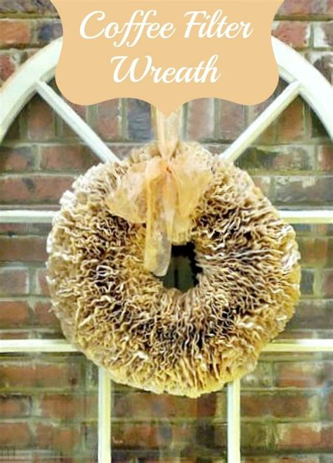 And apparently coffee filter wreaths have been floating around pinterest for a while now, but i must be. How to Make a Coffee Filter Wreath | Miss Information