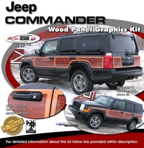 wood panel jeep jeep commander wood panel graphics kit 1 wagoneer