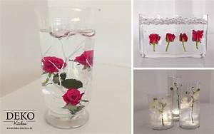 Blumendeko Im Glas : diy centerpiece f r hochzeiten mit unterwasserblumen deko kitchen ~ Frokenaadalensverden.com Haus und Dekorationen