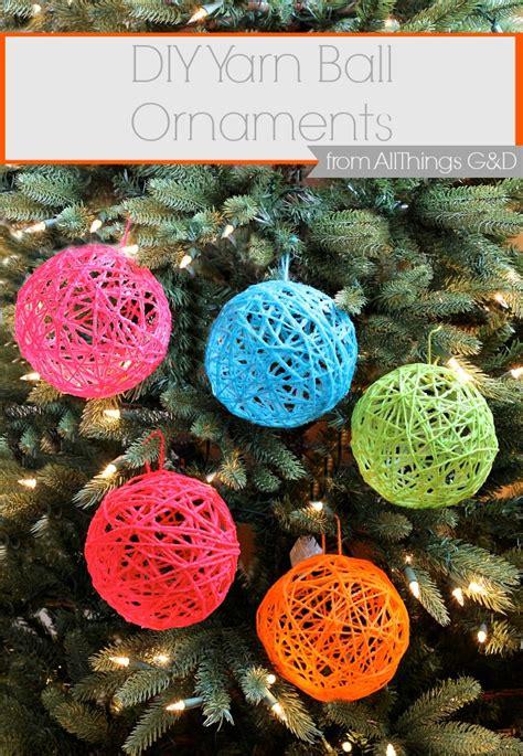 hometalk    yarn ball ornaments