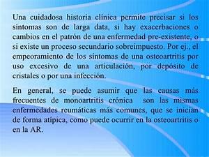 Diagnostico diferencial de osteoartritis
