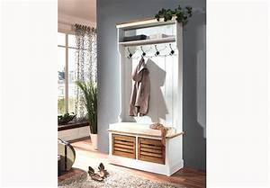 Garderobe Holz Weiß : garderobe paris paulownia holz weiss vintage ~ Frokenaadalensverden.com Haus und Dekorationen